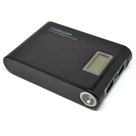 Senter Usb taff power bank 12000mah 2 usb dengan senter display lcd