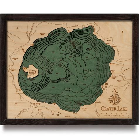 3d topographical map of oregon crater lake wood map 3d nautical topographic chart