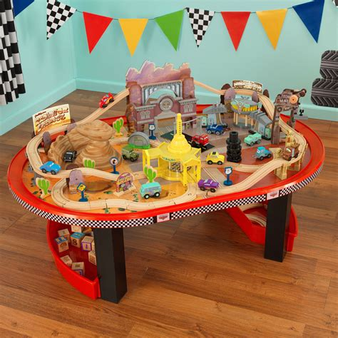 cars play table costco kidkraft disney cars radiator springs race track set and