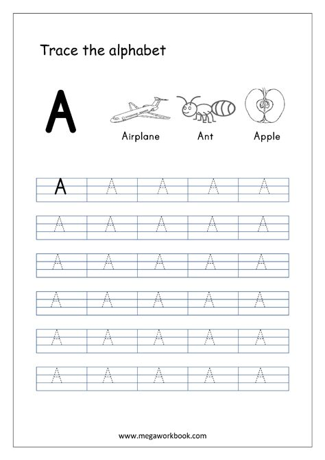 free printable tracing capital letter worksheets free english worksheets alphabet tracing capital