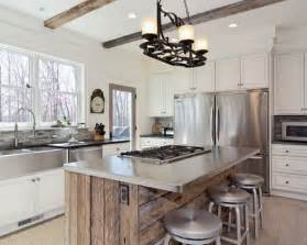 white kitchen wood island houzz classic remodel with countertop and brass