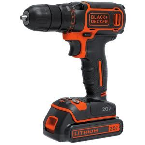 black decker 20 volt max lithium ion 3 8 in cordless