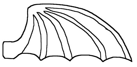 Dragon Wings Coloring Page | dragon wing coloring coloring pages