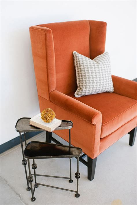 Home Interior Furniture Design Velvet Wingback Chair Side View Stel House Amp Home