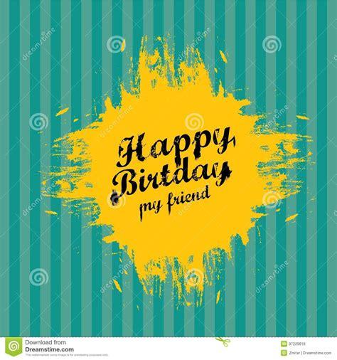 imagenes vintage feliz cumpleaños vintage happy birthday card vector illustration royalty