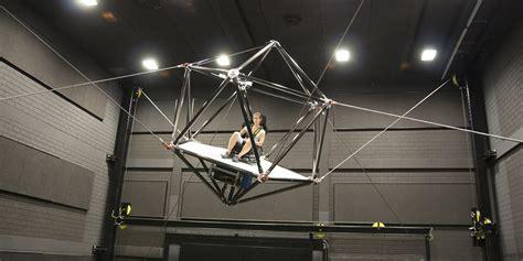 designboom ideo ipa mpi create suspended robotic vr simulation cage