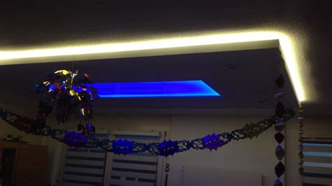indirektes licht selbstgebaute deckenbeleuchtung aus trockenbau led