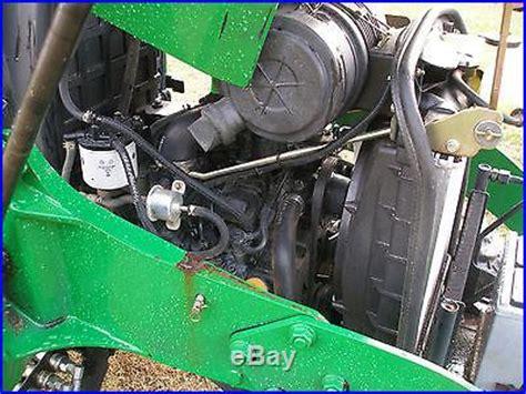 john deere 3203 4 x 4 loader backhoe tractor   mowers
