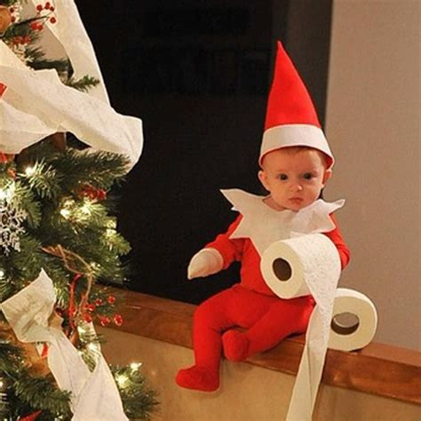 dad turns baby into elf on the shelf usa today dad turns baby into elf on the shelf and it s absolutely