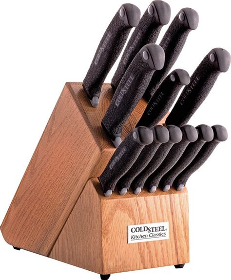 cold steel kitchen knives cs59ksset cold steel kitchen classics 13 piece knife set