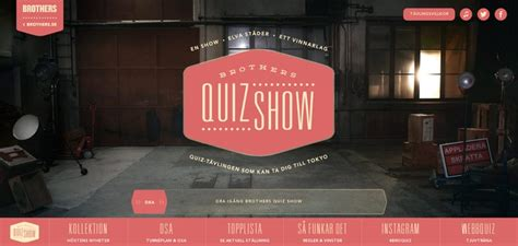 quiz design inspiration brothers quiz show website has a great web design best