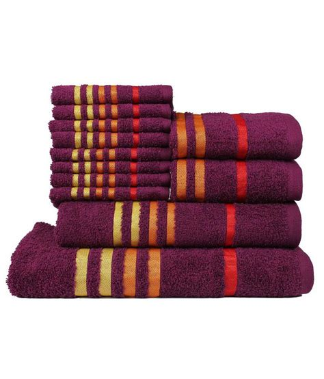 casa copenaghen casa copenhagen set of 12 cotton towels purple buy