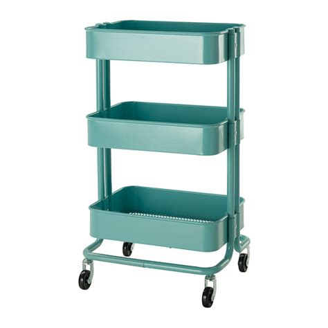 Ikea Blue Rolling Cart | down to the wire diy craft cart the house on hillbrook