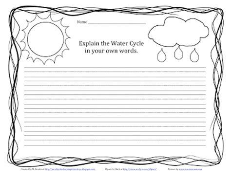 water writing paper classroom freebies water cycle activities