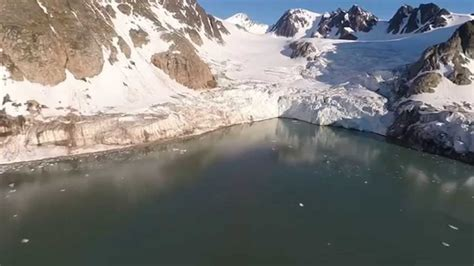 Arctic Shelf Melting by Drones The Arctic Polar Shelves Melting Hd