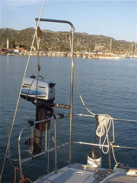 boat motor hoist outboard engine lift modern