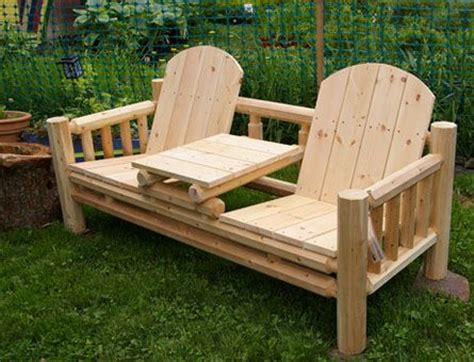 Handmade Wooden Garden Furniture - adirondack chair with table plans woodworking