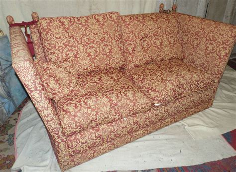 knowle settees a similar knowle settee upholstered in red and cream