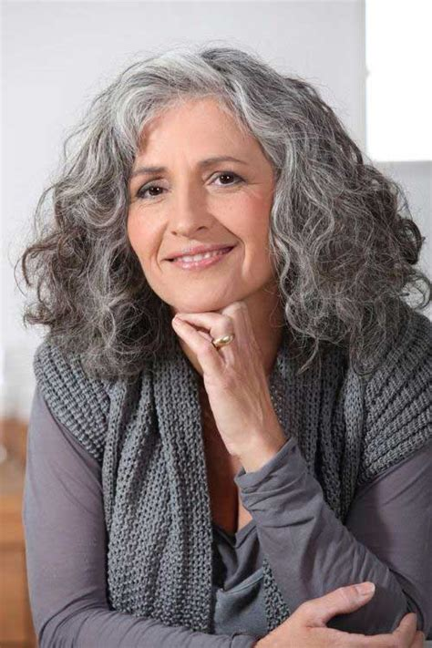 medium haircuts for gray hair medium curly hairstyles hairstyles 2017