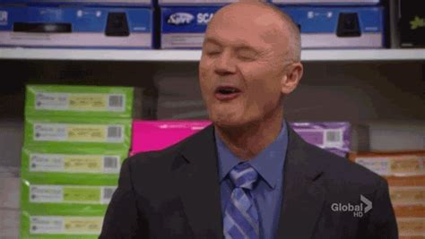 The Office Creed by Reaction Gif Tagged With Wink Creed Bratton The Office