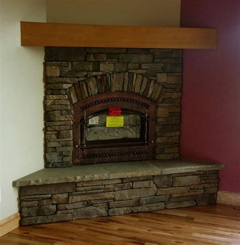 rock fireplace ideas simple design stone tile corner fireplace with inserts