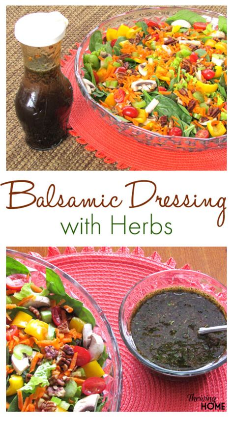 Simple Side Salad With Herbs Chagne Vinaigrette by Balsamic Dressing With Herbs Recipe Thriving Home