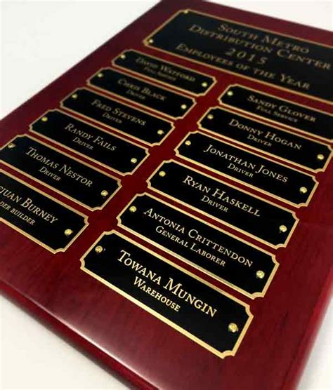 plaques signs rosewood plaque with header office recognition