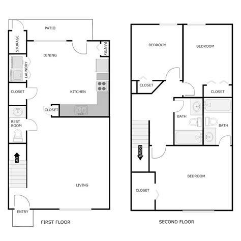 1300 sq ft apartment floor plan 3 bedroom 2 5 bath apartment greens of turfway apartments