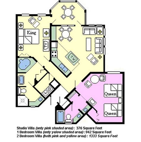 old key west 1 bedroom villa floor plan floor plan of old key west disney villa favorite places