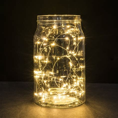 Diy Romantic String Light Centerpiece Ls Home Designing Jar String Lights