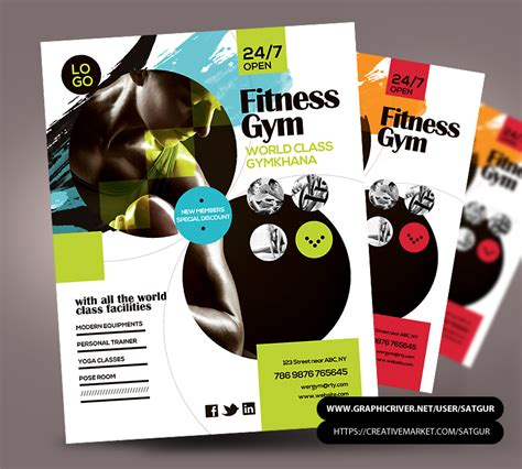 Fitness Flyer Gym Flyer Psd Template By Satgur On Deviantart Fitness Poster Template Free
