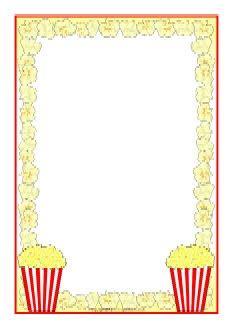 printable popcorn stationary popcorn a4 page borders sb8252 sparklebox makes a
