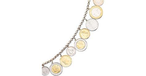 macy s vermeil bracelet lira coins charm bracelet in gold