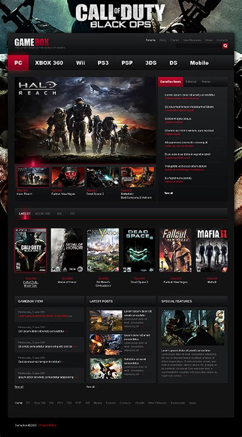 best gaming templates gamebox theme wptopthemes