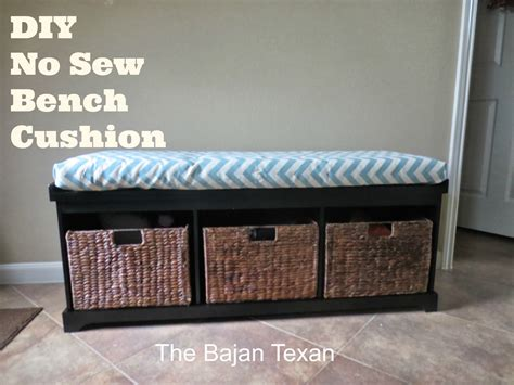 make bench seat cushion no sew bench or window seat cushion the bajan texan