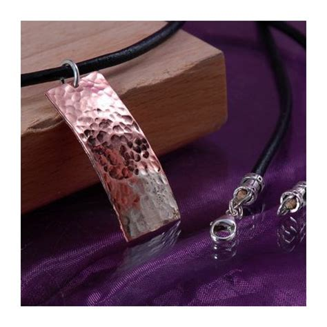 Handmade Copper Jewellery Uk - handmade mens copper leather and silver necklace maxshock