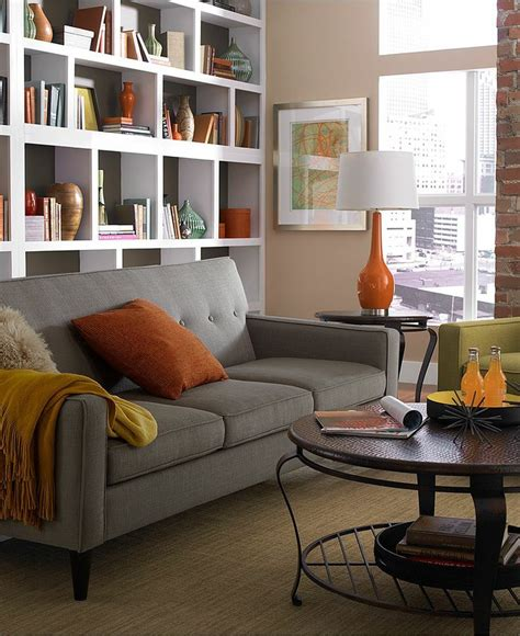 gray and orange living room color crush orange and gray or is it grey confettistyle