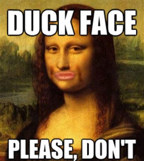 Funny Duck Face Meme - le vrai visage de mona lisa en 2014