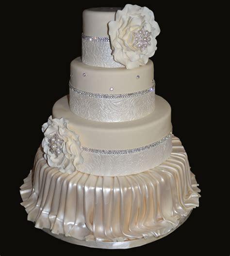 wedding cake drapes flowers and drapes custom wedding cake