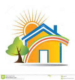Beach Cottage Home Plans logo happy house stock photo image 20008010