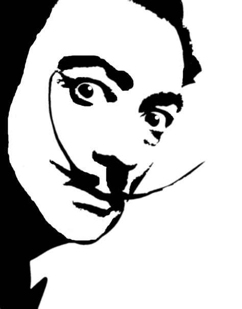 black and dali on pinterest stencil face google search salvador dal 237 1904 1989