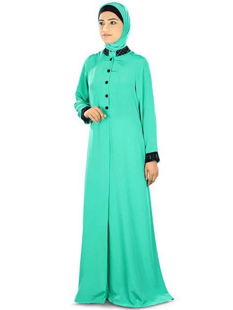 Dress Muslim Abaya Hikmat Fashion A192 Turquise aatikah front open abaya jilbab ay322 muslim dress islamic clothing burqa muslim
