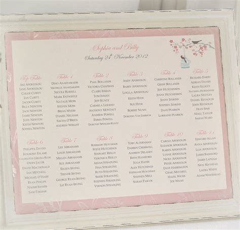 wedding table seating plan printable wedding table seating plan by beautiful day