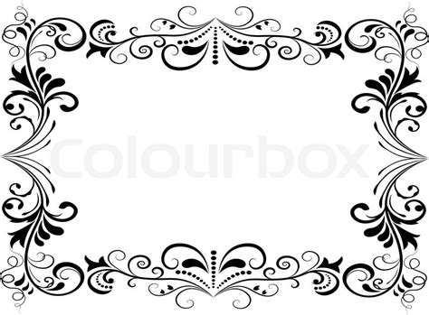 wallpaper black and white frames black and white floral vector frame isolated on white