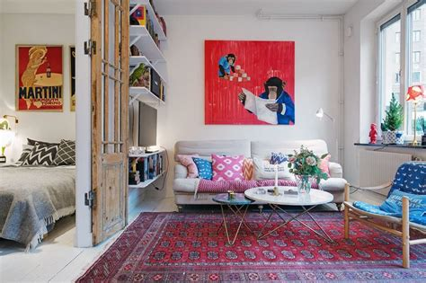 Apartment Living Room Ideas - small swedish apartment as an exle of scandinavian style