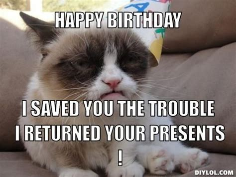Grumpy Cat Happy Birthday Meme - 12 best images about grumpy cat on pinterest grumpy cat