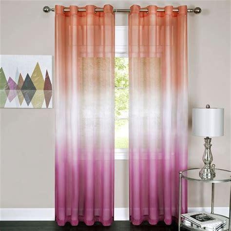sangria rainbow semi sheer ombre grommet curtain panels