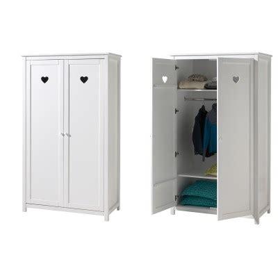 armoire ado 400 amour laque blanc mat chambre enfant l armoire 2 portes