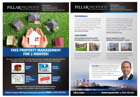 design flyers online australia upmarket elegant property management flyer design for a