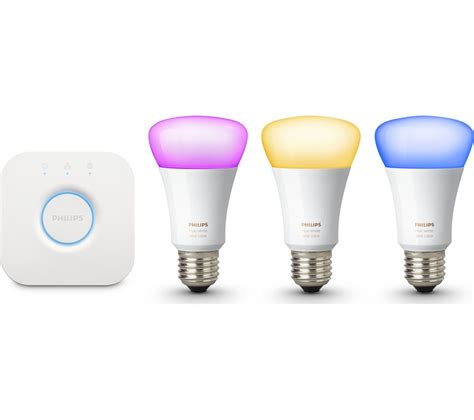 light products buy philips hue colour wireless bulbs starter kit e27